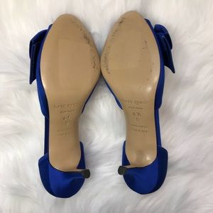 kate spade Shoes - Kate Spade New York Blue Bow Heels 6.5